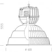 Lampada ad induzione EMC a sospensione – Schema – dimensioni