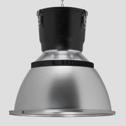 Low bay bell electrodeless induction lamp dome lens