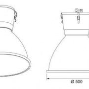 Low bay electro-magnetic induction lamp Bell