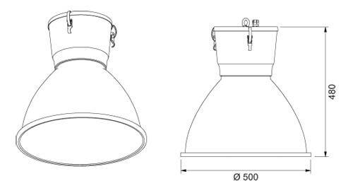 Low Bay Magnetic Induction Lamp Focus Bell